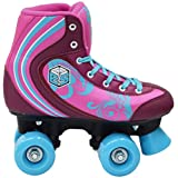 New! Epic Cotton Candy Quad Roller Skates w/ 2 Pr. Laces (Pink & Blue)