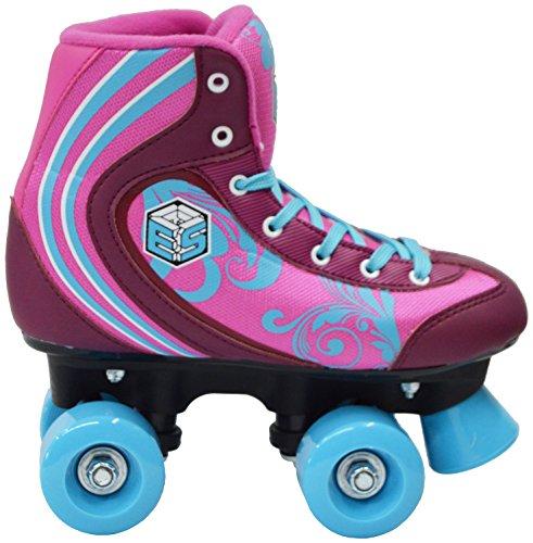 New Epic Cotton Candy Quad Roller Skates w 2 Pr. Laces Pink Blue