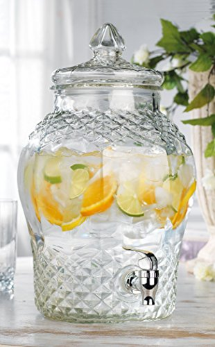 glass beverage dispenser 2 gallon - 9