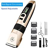 Dog Grooming Clippers Professional Heavy Duty Quiet Rechargeable...