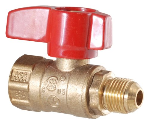 LDR 020 1541 1/2-Inch Heavy Duty Gas Ball Valve, Brass by LDR Industries