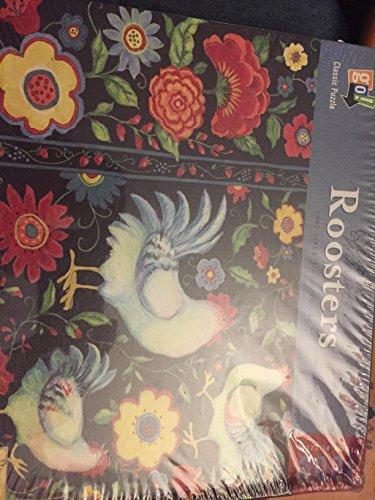 Roosters 1000 Piece Jigsaw Puzzle by Susan Winget