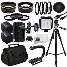 Advanced Accessory Package for Canon XA10 XA20 XA25 XA30 XA35 XF100 XF105 XH A1 XH A1S XH G1 XH G1S XF300 XF305 GL1 GL2 HD Professional Camcorders
