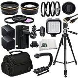 Professional Accessory Package For Canon XA10, XA20, XA25, XA30 Professional HD Camcorders