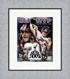 Eli Manning Super Bowl XLVI MVP Composite Framed Art Print Wall Picture, Flat Silver Frame, 15 x 17 inches