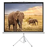 PERLESMITH Projector Screen with Tripod Stand 100 Inch - Height Adjustable Projector St