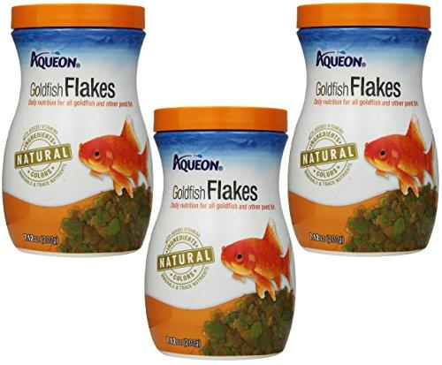 (3 Pack) Aqueon Goldfish Flakes, 7.12 Ounce each