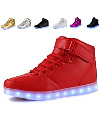 ANLUKE 11 Colors LED Sneakers Light Up Flashing Shoes as gift for Boys Girls Men and Women
