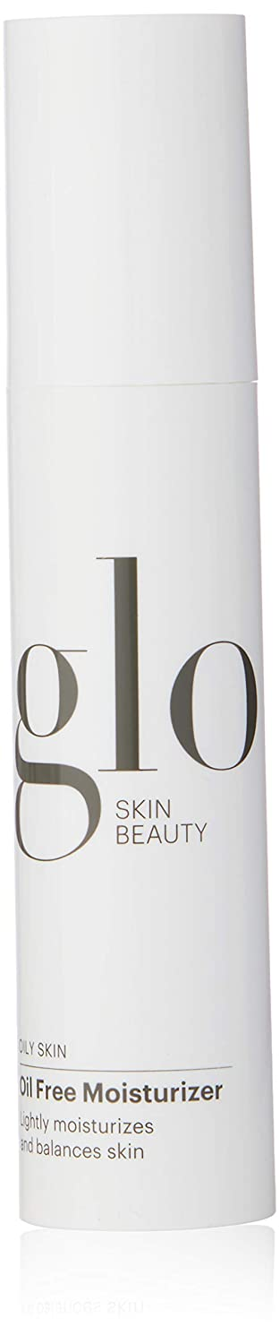 Glo Skin Beauty Oil Free Moisturizer for Oily Skin | Lightweight Antioxidant Face Lotion with Hyaluronic Acid | Weightless