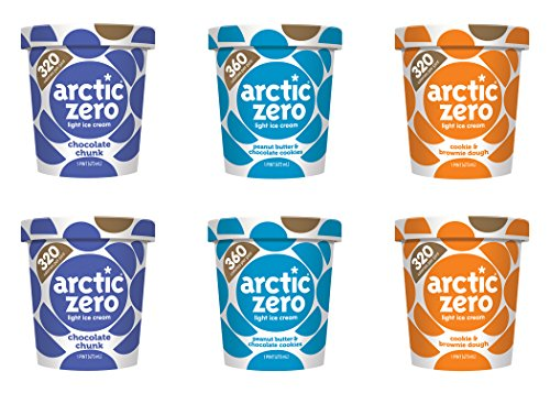 Mix and Match 6-pack, Chocolate Chunk, Peanut Butter & Chocolate Cookies, and Cookie & Brownie Dough by Arctic Zero