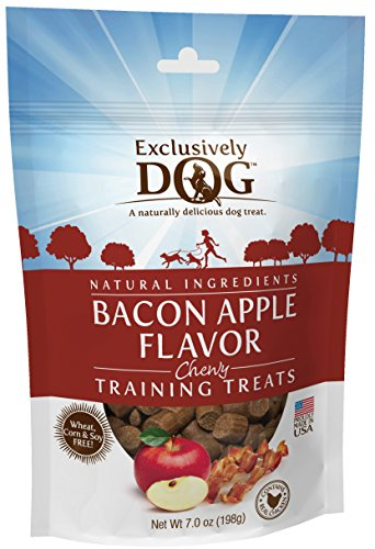 Exclusively Dog Bacon Apple Flavor Chewy Training (Apple Bacon)