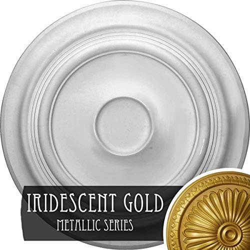 Ekena Millwork CM24TRIGS 24 3/8インチ OD x 1 P 伝統的な天井メダリオン 最大5 1/2インチ玉虫色ゴールド