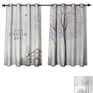 amazon com anzhouqux quote blackout thermal curtain panel country rh amazon com