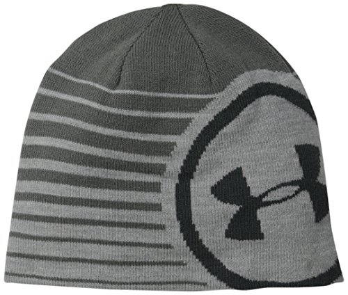 Under Armour Men's Billboard 2.0 Beanie, True Gray Heather /Stealth Gray, One Size