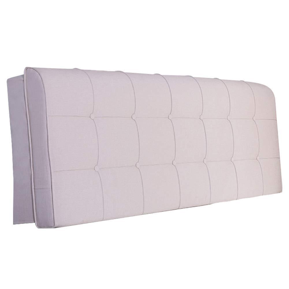TJTJ ヘッドボードベッド背もたれクッション大型枕ベッドサイドヘッドレストダブルソファ室内装飾腰椎色サイズ (Color : Light White, サイズ : 150x10x58cm) B07RLG5CDJ Light White 150x10x58cm