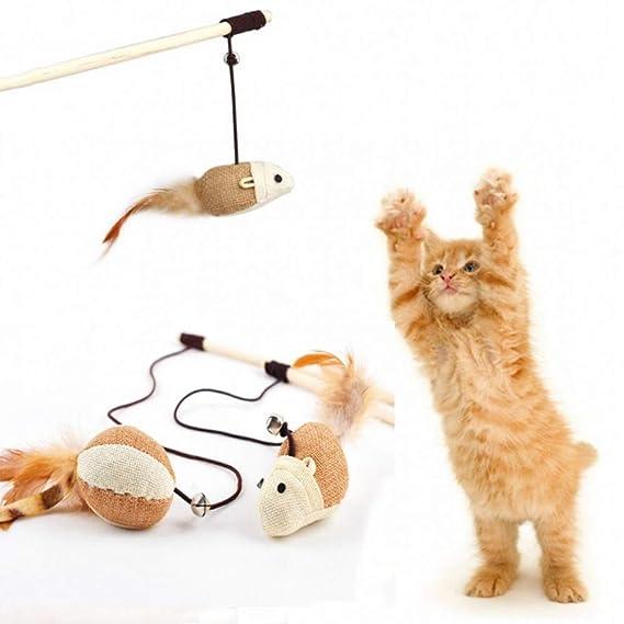 Trade Shop traesiogioco para Gato Gatos Barra con muñeco ratón Mickey Gimnasio tiragraffi uñas: Amazon.es: Productos para mascotas
