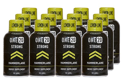 ONE20 Strong Energy Shot Zero Sugar and Calorie Energy Drink, Lemon-Lime Hammerlane (12 count, 2 oz - Of Types Sports Different Of Names