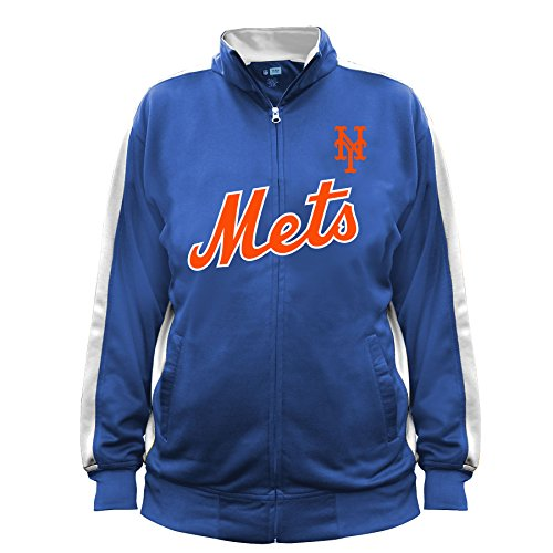 MLB New York Mets Men's Big & Tall Track Jacket, 5X, Royal/White New York Mets Jackets