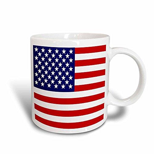 3dRose Mug American Flag - Patriotic USA stars and stripes red white and blue - 4th July America Patriot (mug_112805_3) - 11oz - Transforming, Black/White