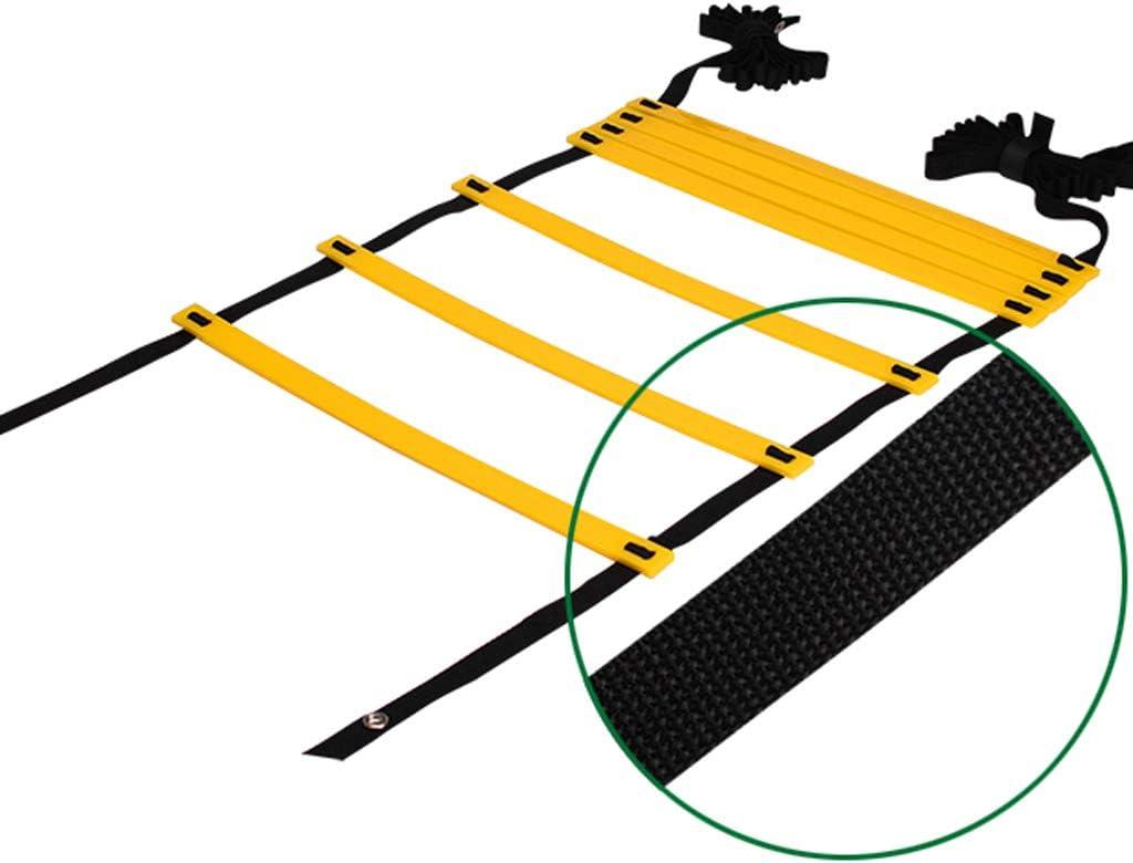 /Échelle dagilit/é de football/Échelle de Rythme Entrainement Football /Échelle Entrainement Echelle Agilit/é Ladder//Echelle Football avec Valise Noire pour Les Exercices de Vitesse et de Coordination