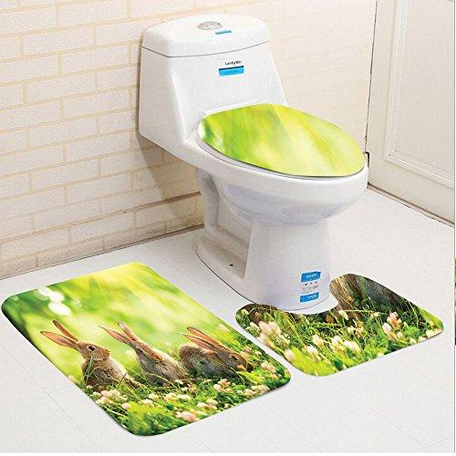 Keshia Dwete three-piece toilet seat pad customAnimal Funny