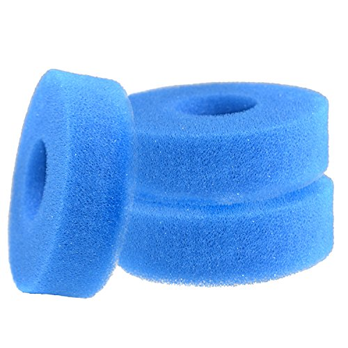 HQRP 3-Pack Foam Sponge Filter Media for Laguna Pressure-Flo 700/2500 UVC (PT1500); PT1501 PT-1501 Replacement Coaster