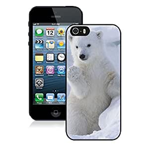 Diy Funny Apple Iphone 5s Case Cute Polar Bear Black Soft Rubber TPU Cell Phone Protective Case Cover for Iphone 5