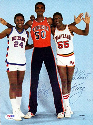 Ralph Sampson & Albert King Autographed Signed Magazine Page Photo S76668 PSA/DNA Certified Autographed NBA Magazines