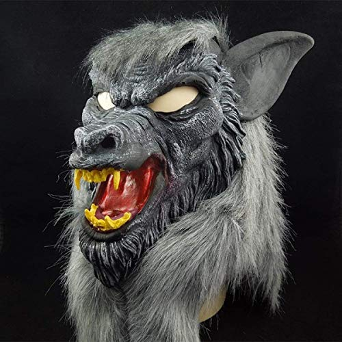 Halloween Wolf Mask Animal Head Scary Creepy Werewolf Mask Cosplay Mask for Party Monster Mask Props Maskers -