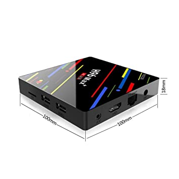 Receptor de Cable Boxes Network Player Android 8.1 4GB 32GB \ 64GB Decodificador Remoto Control Remoto