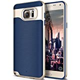 Galaxy Note 5 Case, Caseology [Wavelength Series] Slim Dual Layer Protection Textured Grip Protective Cover [Navy Blue] for Samsung Galaxy Note 5
