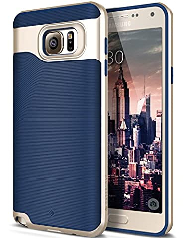 Galaxy Note 5 Case, Caseology [Wavelength Series] Textured Pattern Grip Cover [Navy Blue] [Shock Proof] for Samsung Galaxy Note 5 - Navy (Military Cell Phone Covers)