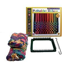 "Harrisville Designs 7"" Potholder (Traditional Size) Deluxe Loom Kit, Makes 6 Potholders"
