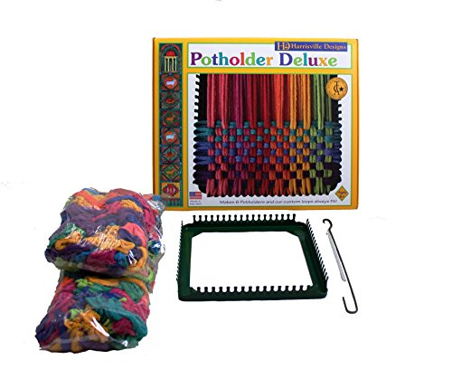 "Harrisville Designs 7"" Potholder (Traditional Size) Deluxe Loom Kit, Makes 6 Potholders"