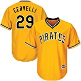 Outerstuff Francisco Cervelli Pittsburgh Pirates #29 Youth Cool Base Alternate Jersey Gold