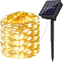 DeepDream Solar Fairy Lights Outdoor, 72ft/20m 200 LED 8 Modes Solar Powered String Lights Waterproof Garden Lights...