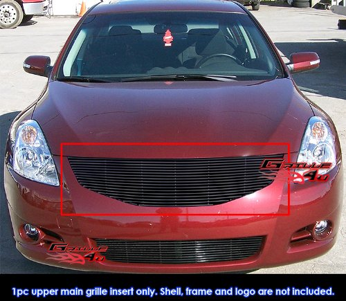 Compatible with 2011-2012 Nissan Altima Sedan Black Billet Grille Grill Insert S18-H08868N