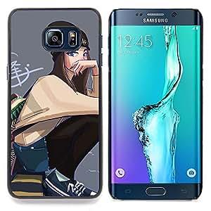 Ihec-Tech Arte del Grunge de la escuela de la calle Estilo Outfit/Funda Case back Cover guard/for Samsung Galaxy S6 Edge Plus/S6 Edge+ G928