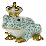 Herend Frog Prince Green Fishnet
