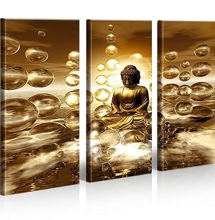 Buddha V2 3 Quadri moderni su tela - pronti da appendere - montata ...