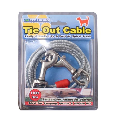 Tie Out Cable Câble d'attache grande résistance 3 m