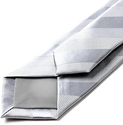 YYB-Tie Corbata Moda Corbata de Rayas con Lazo de Plata y Seda ...