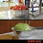 ChefLand Set of 6 Standard Weight Mixing Bowls, Stainless Steel, Mirror Finish, 0.75, 1.5, 3, 4, 5, and 8 Qt. (Mixing Bowl Set Of 6) 11 SET OF 6 ESSENTIAL SIZES - 0.75, 1.5, 3, 4, 5, and 8 Quart bowls ideal for whisking, mixing, marinating and serving. Prepare a light garnish or chop a colorful, healthy salad into the bowl of your choice and enjoy a sleek transition straight from the kitchen counter to charming serving. COMPACT STORAGE CAPABILITY - Who has space in their cupboards for loose bowls rolling around? ChefLand makes your life that bit more simple with these six, stackable, bowls that are easy to store and organize. With a lightweight, sleek and easy to use design, these bowls really do administer a professional result. STYLISH YET ROBUST - Designed with durable 18/8 stainless steel construction and finished with a reflective, mirrored exterior these bowls ensure both attractive presentation and high quality strength. A flat sturdy base and curved lip will optimize function, for a safe and sturdy mix or blend. ChefLand metal mixing bowls are rugged enough to stand up to everyday use without suffering any undue damage or wear and tear. Prepare and serve your dishes with pride, pleasure and confidence... Why not?