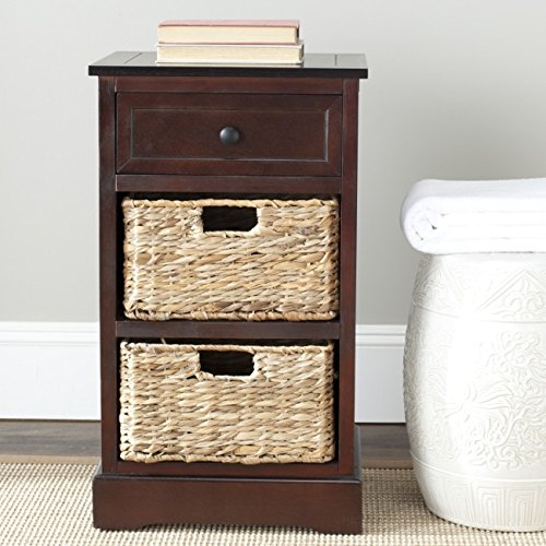 Safavieh American Homes Collection Carrie Dark Cherry Side Storage Side Table (Furniture Wood And Wicker)