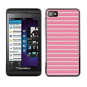FlareStar Colour Printing Lines Summer Teal Pink Pattern Clean cáscara Funda Case Caso de plástico para Blackberry Z10