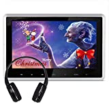 1080P Monitor - DDAUTO 10.1 Inch Headrest DVD Player Touch Keys HD Digital TFT Screen 1080P Monitor Multimedia Player Supports HDMI USB SD Card with Remote Control Wall Adapter (DD101HDS)