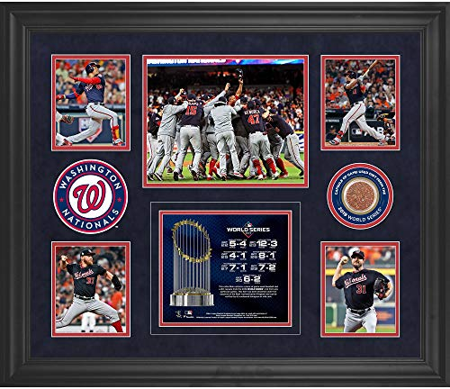 Washington Nationals 2019 World Series Champions Framed 5-Photo Collage with a Capsule of Game-Used World Series Dirt - Fanatics Authentic Certified
