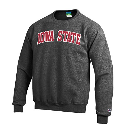 (Champion NCAA Iowa State Cyclones Men's Eco Power Blend Crew Neck Sweat Shirt, X-Large, Gray)