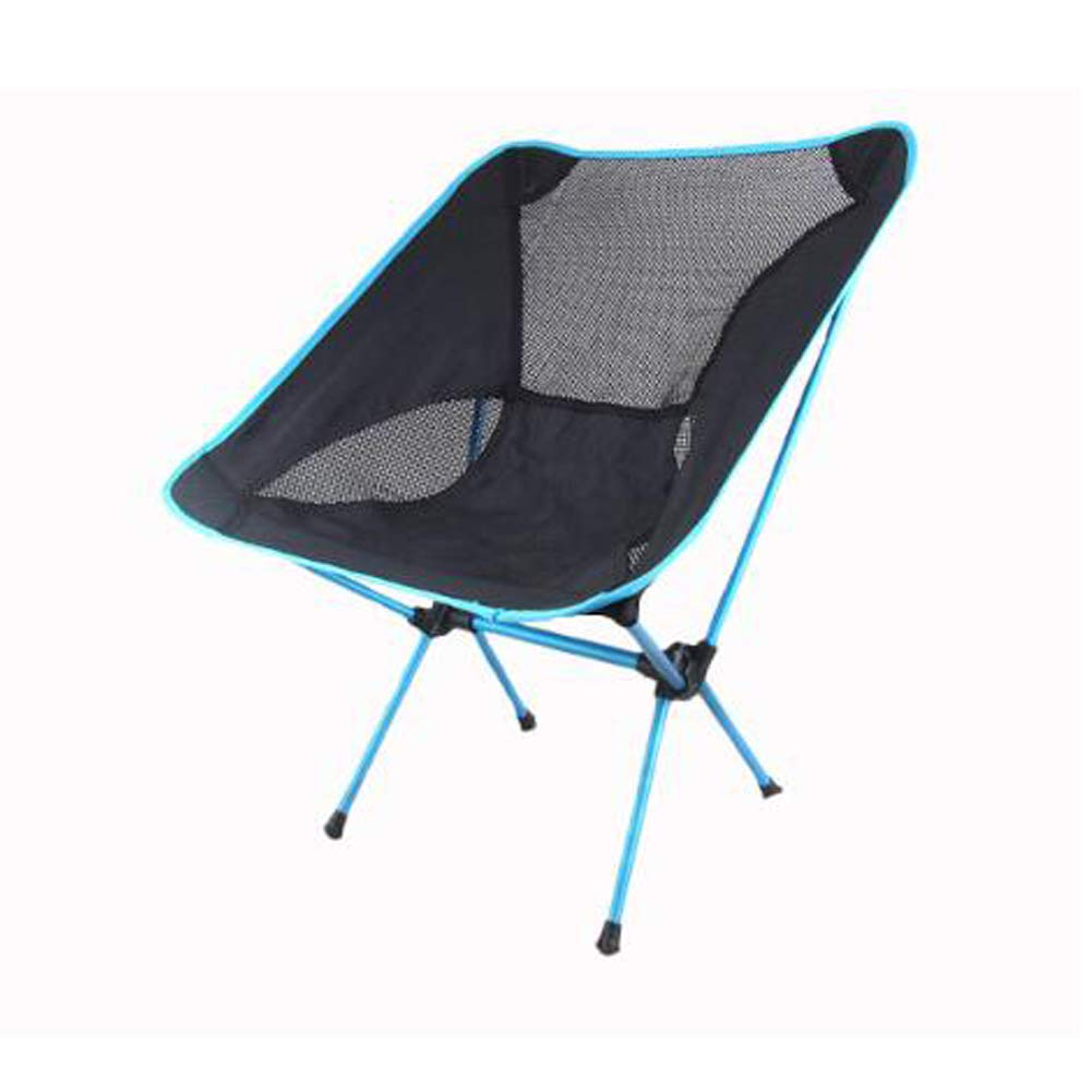 XYHWZY Portable Folding Stool Mini Fishing Chair Aluminum Lightweight Foldable Small Stool Seat with mesh Bag for Hiking Camping Picnic Travel,Blue by XYHWZY