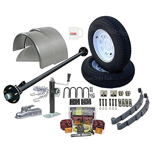 Tandem Axle Cargo Trailers (Utility Trailer Parts Kit 3,500 lb - Single Axle Trailer 6' 6